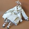 Жираф малый белый в пижаме