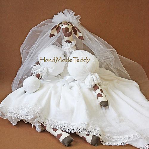 Жирафа невеста большая белая