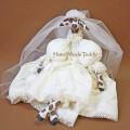 Жирафа невеста малая белая
