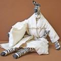 Зебра большая в пижаме