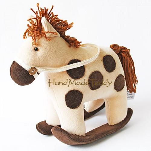 Конь качалка Боня в яблоках