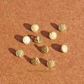 Мини пуговки 4 мм бронза с цветком