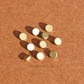 Мини пуговки 4 мм плоские бронза