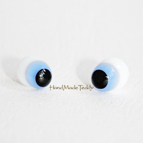 Крейзи глазки из молочного стекла голубые